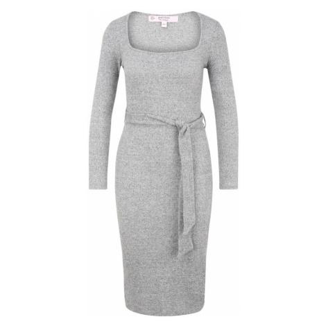 Miss Selfridge Petite Pletené šaty  sivá
