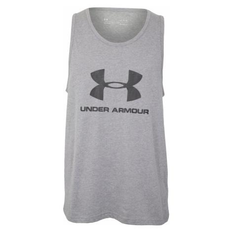 UNDER ARMOUR Funkčné tričko  sivá / čierna