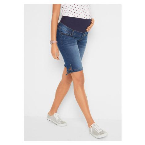 Tehotenské džínsové bermudy