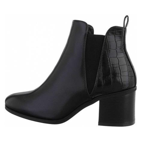 Dámske členkové topánky na podpätku
