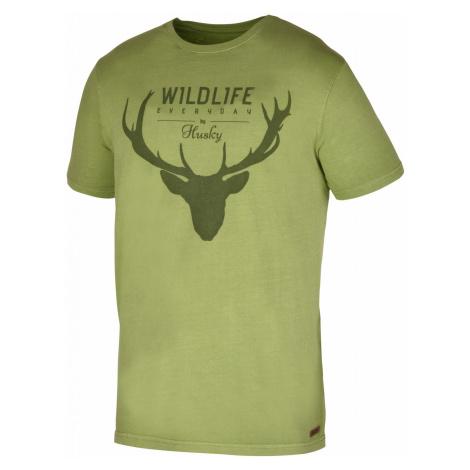 Husky Deer tm.zelená, Pánske tričko