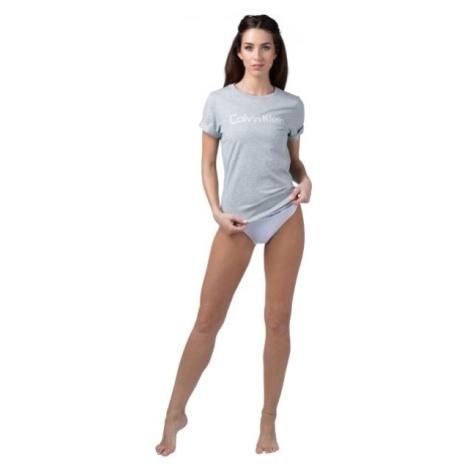 Calvin Klein S/S CREW NECK šedá - Dámske tričko