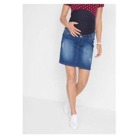 Materská džínsová sukňa zo super-streču