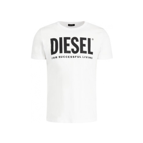Diesel Tričko T-Diego-Logo 00SXED 0AAXJ Biela Regular Fit