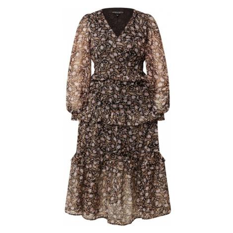 Dorothy Perkins Šaty  čierna / svetlohnedá / karamelová