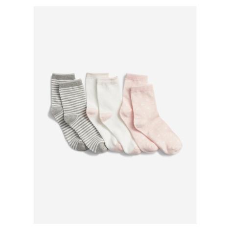 Ponožky 3 páry dětské GAP Biela