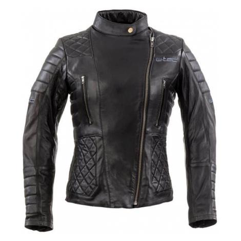 Dámska kožená moto bunda W-TEC Corallia Farba Black