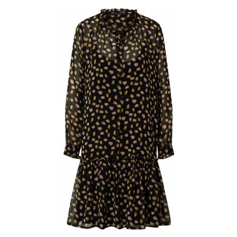 LAUREL Košeľové šaty  čierna / zmiešané farby