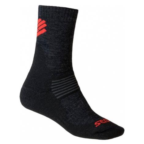 Funkčné ponožky Sensor Expedition Merino čierno-červené