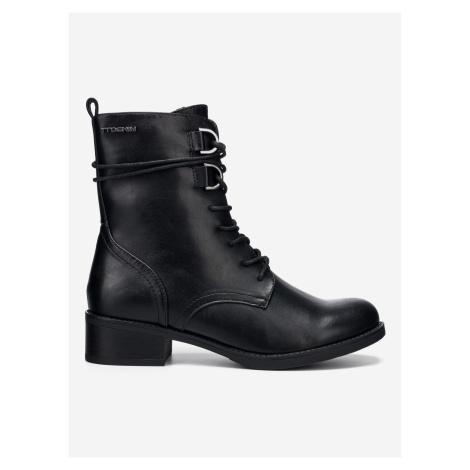Kotníková obuv Tom Tailor Denim Čierna
