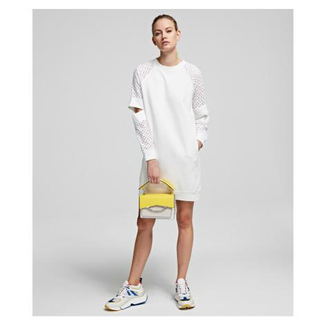 Mikina Karl Lagerfeld Cut Out Lace Slv Sweat Dress