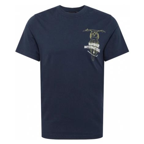 Barbour International Tričko 'Bike'  námornícka modrá / biela / olivová