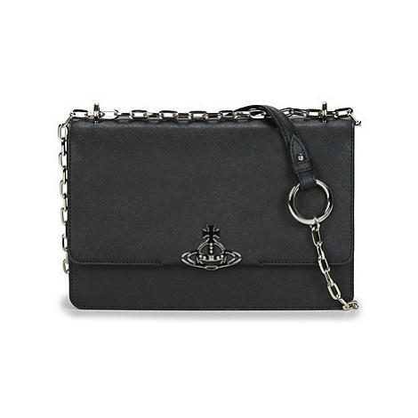 Vivienne Westwood DEBBIE LARGE BAG WITH FLAP Čierna