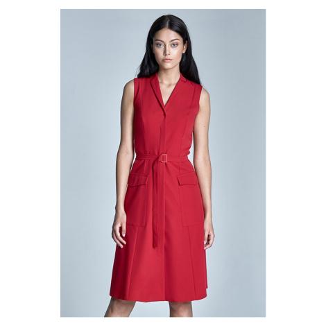 Červené šaty S72 Nife