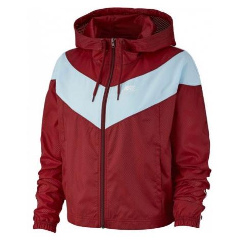 Nike NSW HRTG JKT WNDBRKR červená - Dámska bunda