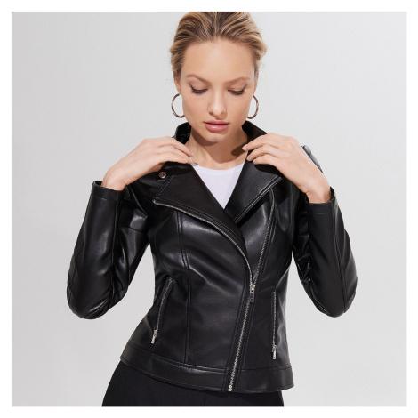 Mohito - Motorkárska bunda z umelej kože - Čierna