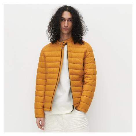Reserved - Prešívaná bunda so stojačikom - Žltá