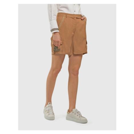 Šortky La Martina Woman Viscose Twill Shorts - Hnedá