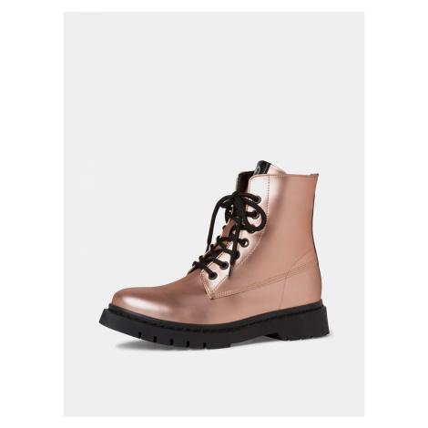 Tamaris ružové členkové topánky