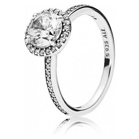 Pandora Trblietavý strieborný prsteň 196250CZ mm
