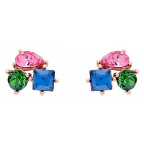 Ted Baker Náušnice 'Crystal Candy'  zlatá / rosé / zelená / modrá