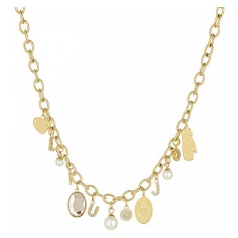 Liu.Jo Pozlátený oceľový náhrdelník s príveskami LJ1434