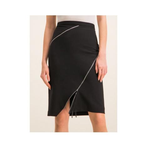 Hugo Puzdrová sukňa Ridela 50419973 Čierna Regular Fit Hugo Boss