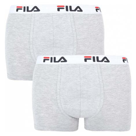 2PACK pánske boxerky Fila sivé (FU5016/2-400)