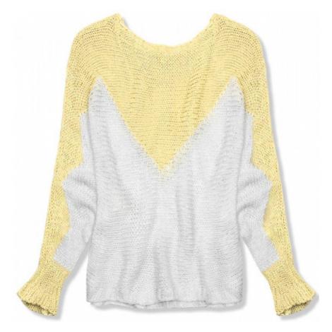Žltý pulóver s netopierími rukávmi