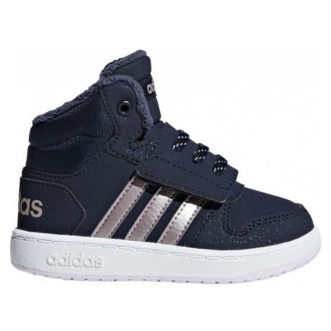 adidas HOOPS MID 2.0 I sivá - Detská voľnočasová obuv