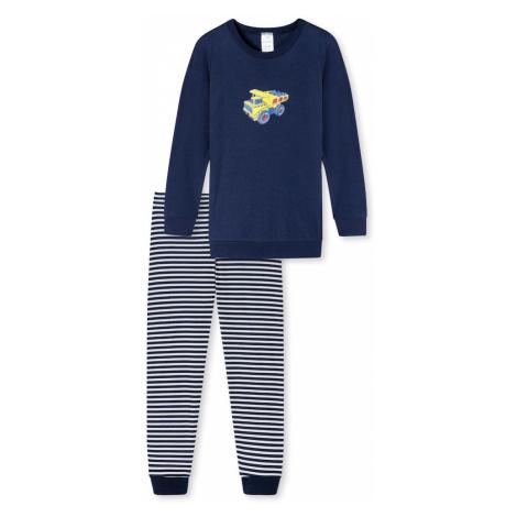 SCHIESSER Pyžamo  námornícka modrá / žltá / svetlomodrá / modrá / červená