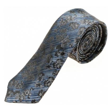 Modrá pánska elegantná kravata BOLF K108