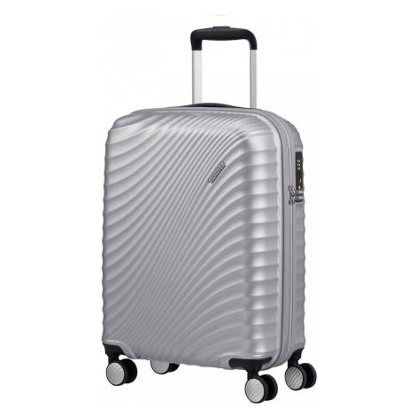 American Tourister Kabínový cestovný kufor Jetglam Spinner 35,5 l - stříbrná