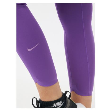 NIKE Športové nohavice 'One Luxe'  neónovo fialová / pastelovo fialová