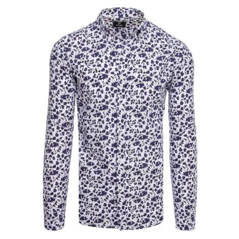 Men's white and purple shirt Dstreet DX2065