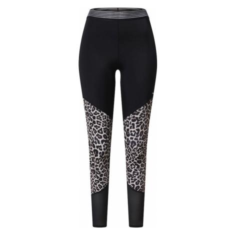 HKMX Športové nohavice  biela / hnedá / čierna