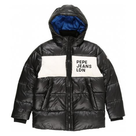 Pepe Jeans Zimná bunda 'NOLAN'  čierna / biela / modrá