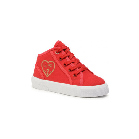 Guess Sneakersy Piuma Mid FI7PAM FAB12 Červená
