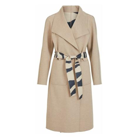 VILA Prechodný kabát 'Juice'  béžová / námornícka modrá
