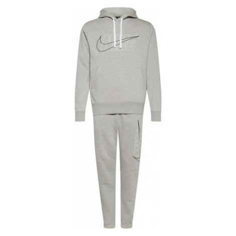 Nike Sportswear Joggingová súprava  sivá melírovaná / biela / čierna