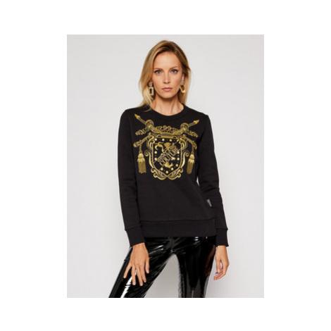 Versace Jeans Couture Mikina B6HZB7TS Čierna Regular Fit
