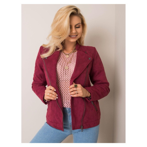 STITCH & SOUL Dark red eco suede jacket
