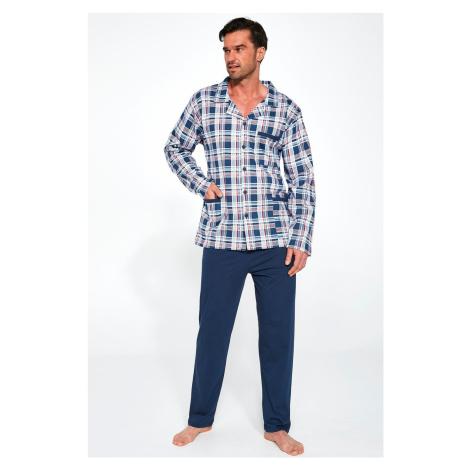 Pánske pyžamo Cornette Camisa Azul 114/45 Tmavě modrá