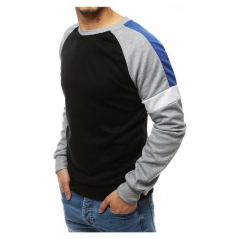 Black men's sweatshirt without hood BX4486 DStreet