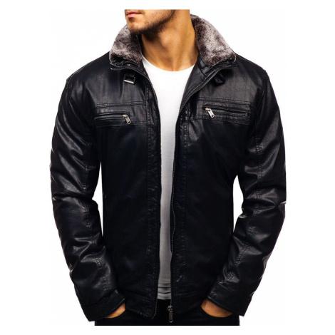 Čierna pánska koženková bunda BOLF EX836 EXTREME