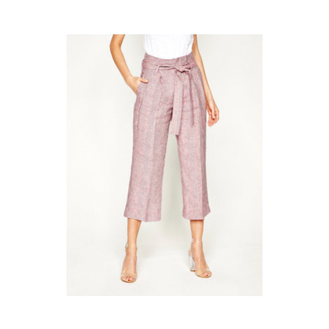 Liu Jo Culottes nohavice FA0211 T4185 Ružová Regular Fit