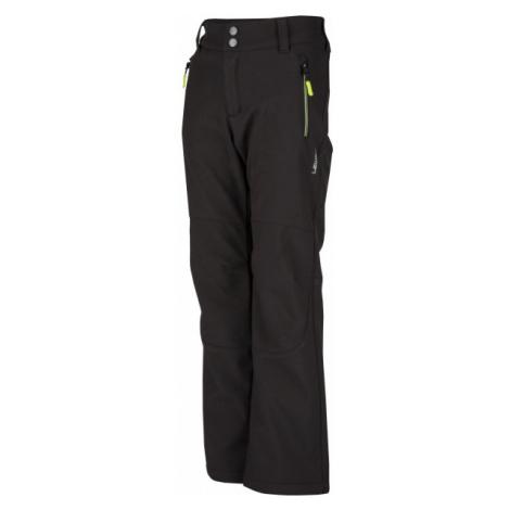 Lewro DAYSON 116-134 čierna - Detské softshellové nohavice