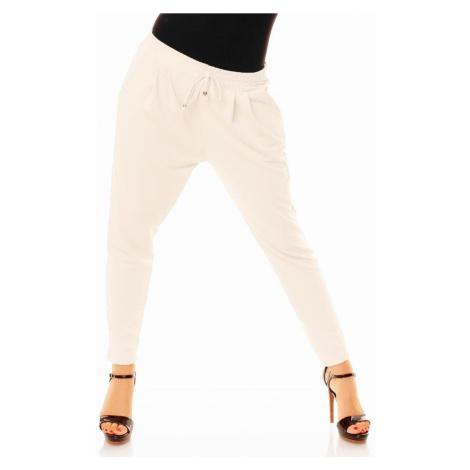 Dámske trendy nohavice biele