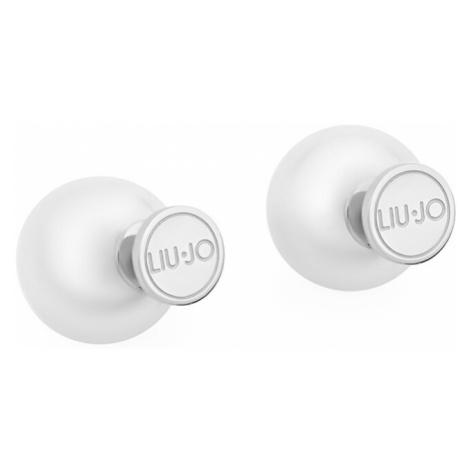 Liu.Jo Oceľové náušnice s perličkami LJ1470