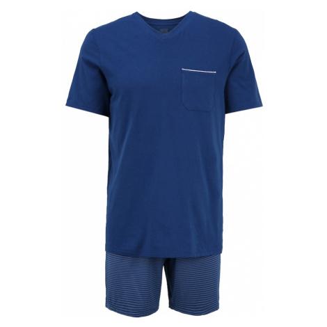 SCHIESSER Krátke pyžamo  tmavomodrá / dymovo modrá